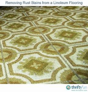 removing rust stains from a linoleum flooring thriftyfun With rust stains on vinyl flooring