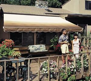 12 Ft Sunsetter Vista U00ae Retractable Awning  Manual Outdoor