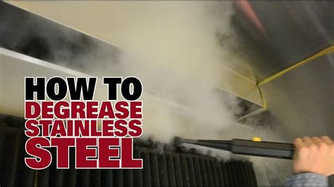 How To Degrease Stainless Steel  Dupray Steam Cleaners
