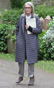 Diane Keaton looks chic in a tweed coat for Hampstead ...