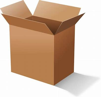 Box Cardboard Clip Clipart Boxes Carton Svg