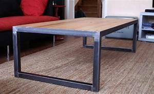 Table Bois Et Fer : table basse fer bois table basse metal bois maison boncolac ~ Teatrodelosmanantiales.com Idées de Décoration