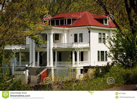 large  country estate homestead stock photo image