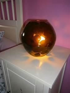 Ikea Lampe De Chevet : lampe de chevet transparente aux motifs noir ikea photo ~ Carolinahurricanesstore.com Idées de Décoration