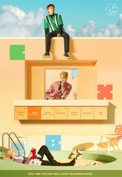 exo cbx blooming day exo cbx release the tracklist for new album blooming day