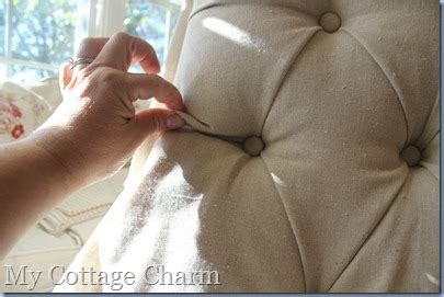 How To Do Tufting Upholstery by My Cottage Charm How To Tuft And Upholster A Chair