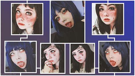 Hd Wallpaper Anime Girls Open Mouth Yellow Eyes Tongue