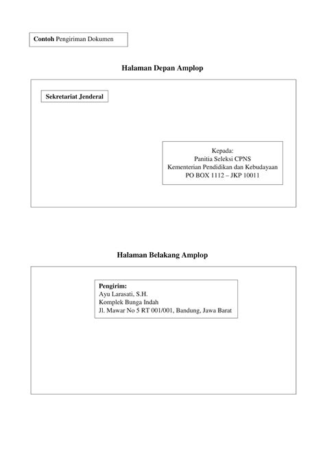 Contoh Surat Lamaran Kerja Cpns Kemendikbud by Contoh Terbaru Surat Lamaran Cpns Kemendikbud Tahun 2018
