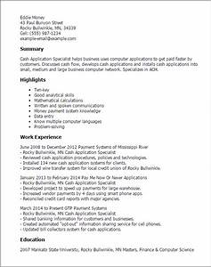 professional cash application specialist templates to With write resumes for money