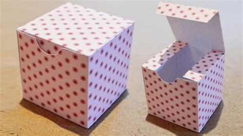 Comment Fabriquer Une Boite Diy Boite Cadeau En Papier Comment Faire Une Boite Carr 233 E