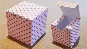 Fabriquer Une Boite En Carton Avec Couvercle : diy boite cadeau en papier comment faire une boite carr e youtube ~ Melissatoandfro.com Idées de Décoration