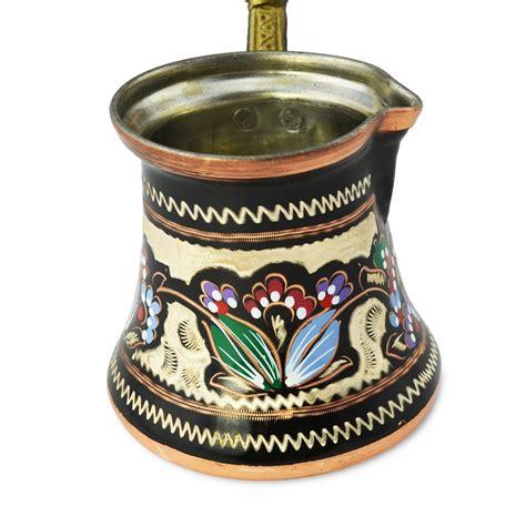Traditional copper turkish coffee pot. Decorated Turkish Coffee Pot/Cezve/Ibrik 10 oz
