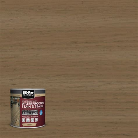 Behr Deck Home Depot by Behr Premium 8 Oz St147 Castle Gray Semi Transparent