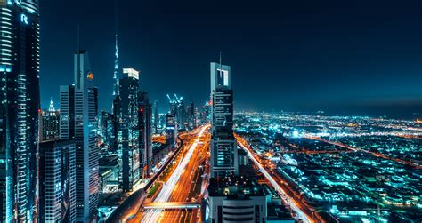 wallpaper dubai cityscape night   world