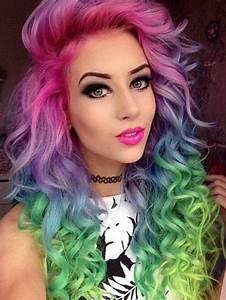 Best rainbow hairstyle ideas