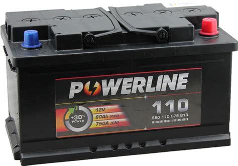 Batterie Car by 110 Powerline Car Battery 12v 80ah Car Batteries