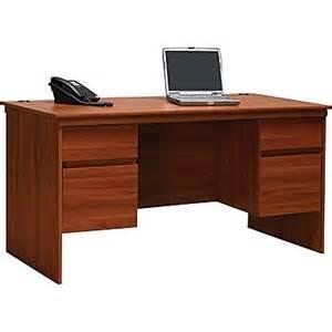 ameriwood 174 tiverton executive desk expert plum staples 174