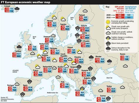 europe europa weather map chart mapa economia focus feb still economic