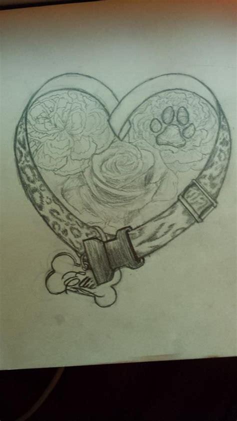 final sketch dog memorial tattoo design  nessylov