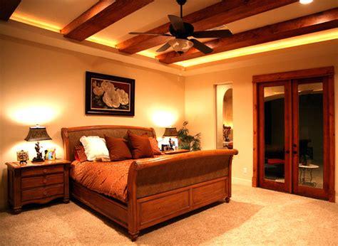master bedroom  wood beams mediterranean bedroom