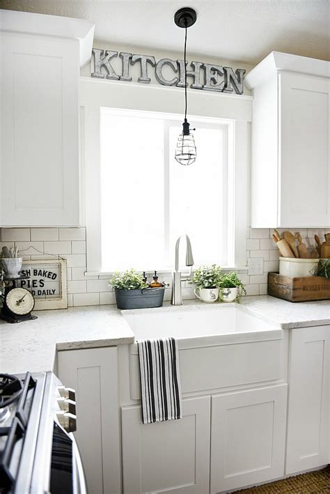 how to decorate above kitchen sink with no window farmhouse sink review pros cons 9893