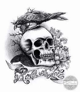 Dessin Tete De Mort Avec Rose : dessin de tatouage de tete de mort tatouage ~ Melissatoandfro.com Idées de Décoration