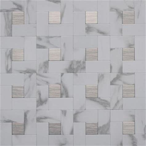 mosaic tile instant mosaic 12 in x 12 in peel and stick faux white Instant