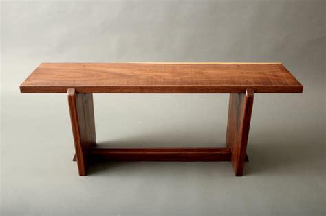 japanese style gallery entry walnut bench metropolitan