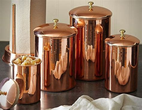 Copper Kitchen Canisters   copper canister Distinctive