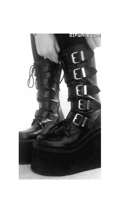 Goth Boots Gothic Platform Giphy Gifs Creepers