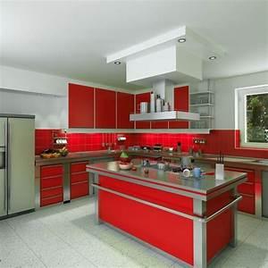 une cuisine aux couleurs vives 30 exemples pour votre With ilot central cuisine rouge