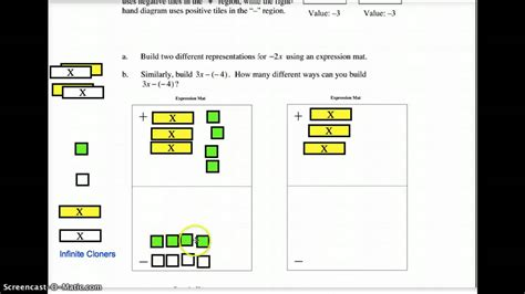 Make Algebra Tiles by Using An Expression Mat