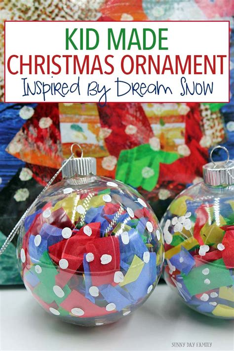 christmas ornament project for pre k snow ornament for to make day family