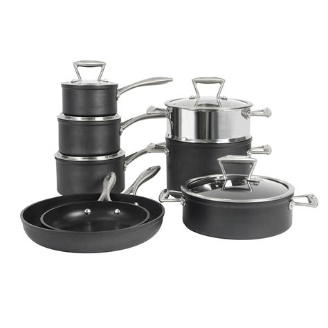 procook induction pans stick pots non cookware forged kitchen piece cooking plate steel base stainless heat single