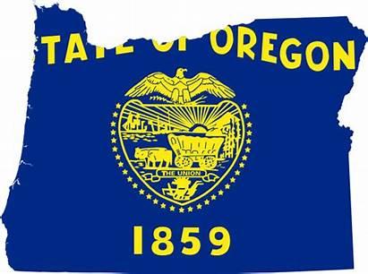 Oregon Flag Map Clipart Drapeau Clip Maps