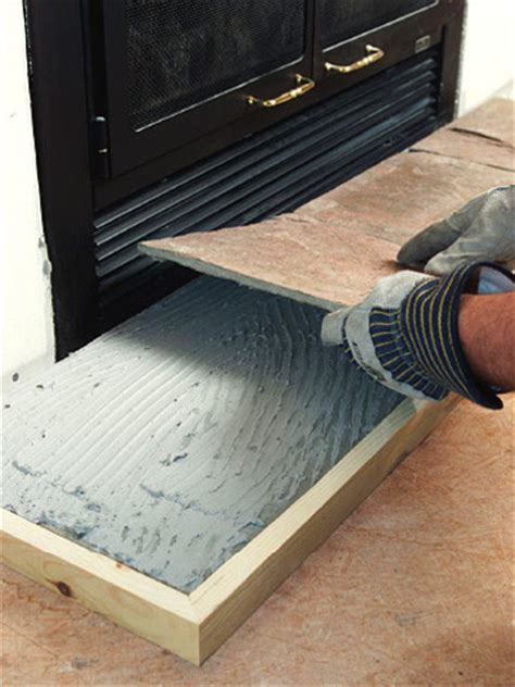 tiling  fireplace hearth  tile  special spaces