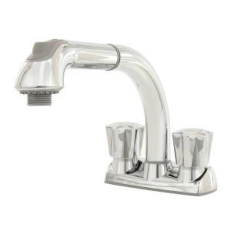 glacier bay pull out kitchen faucet glacier bay 2 handle pull out sprayer laundry faucet in