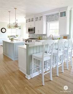 coastal kitchen makeover the reveal With kitchen colors with white cabinets with beach framed wall art