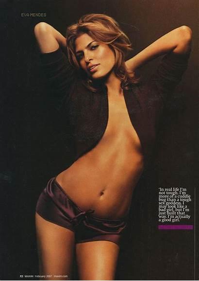 Eva Mendes Maxim Magazine 2007 February Poses