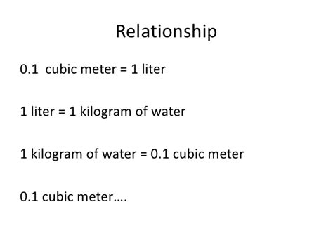 liters in a cubic meter of water metric system