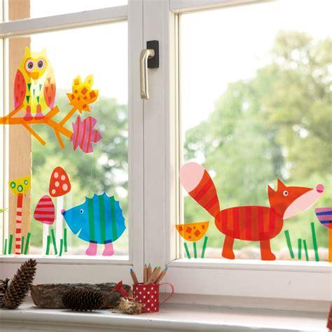 Herbstdeko Fenster Basteln Kindern by Fenstertiere Herbst Bastelei Und Malerei