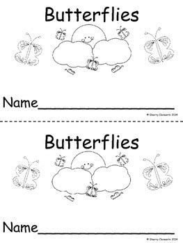 Butterflies Emergent Reader by Sherry Clements | TpT