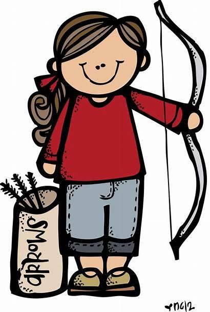 Camp Melonheadz Illustrations Lds Archery Clip Clipart