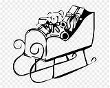 Drawing Sledding Clipart Pinclipart Coloring Christmas Sled sketch template