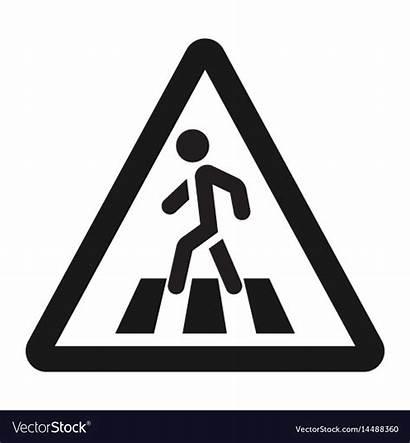 Crossing Pedestrian Zebra Sign Crosswalk Icon Road