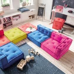 sofa kinder kindersofa cushion sofa element b bodenkissen 65x65cm dannenfelser