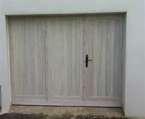agreable porte garage bois 4 vantaux 2 lo r233 du bois With porte de garage bois 2 vantaux