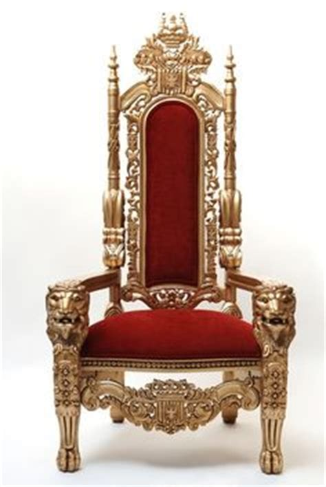 the king throne chair in velvet with gold wood finish