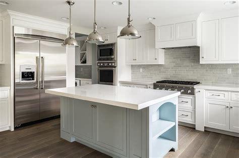 grey kitchen cabinets with backsplash white kitchen cabinets with gray brick tile backsplash
