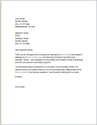 thank you letter for job interview thank you letter for word template word 25105 | Thank you letter for job interview